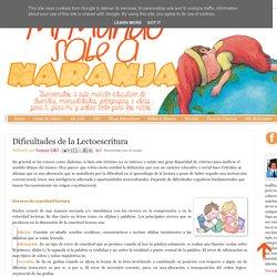 Mi Mundo sabe a Naranja: Dificultades de la Lectoescritura