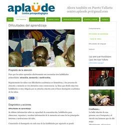 Dificultades del aprendizaje - Aplaude, centro psicopedagógico