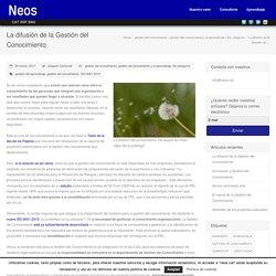 La difusión de la Gestión del Conocimiento - NEOS