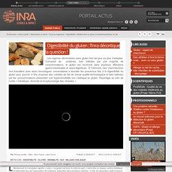 INRA 08/08/17 Digestibilité du gluten : l'Inra décortique la question !