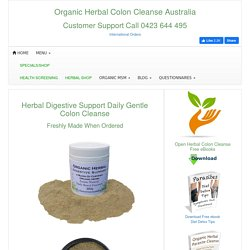 Herbal Digestive Support Daily Colon Cleansing
