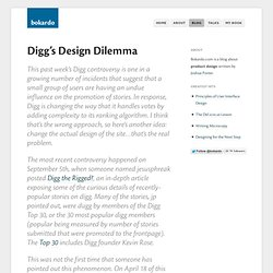 Digg's Design Dilemma