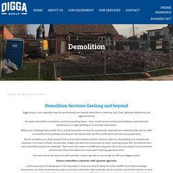 Digga Demolitions - Demolition