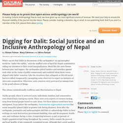 Digging for Dalit: Social Justice and an Inclusive Anthropology of Nepal