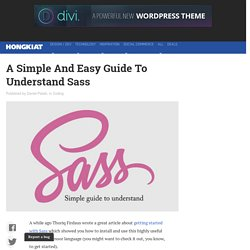 Digging Into Sass - A Guide