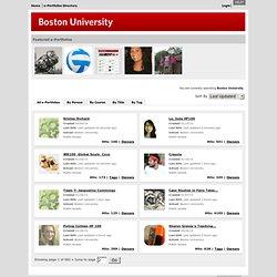 Répertoire des ePortfolio de Boston Université