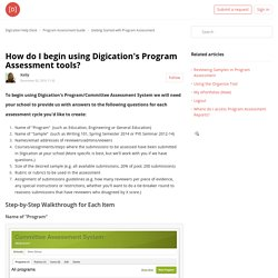 How do I begin using Digication's Program Assessment tools? – Digication Help Desk