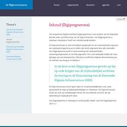 Digicommissaris | Inhoud (Digiprogramma)