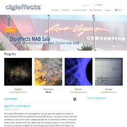 Digieffects - Plug-ins - After Effects, Final Cut Pro, Premiere Pro and Edius