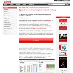 Digimind Social: Digimind lance une plateforme intégrée de social media monitoring