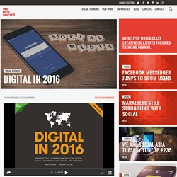 Digital in 2016 - We Are Social Singapore