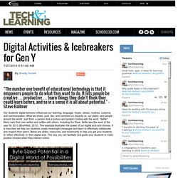 Digital Activities & Icebreakers for Gen Y