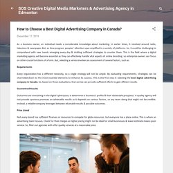 How to Choose a Best Digital Advertising Company in Canada?