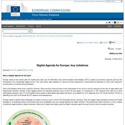 Digital Agenda for Europe: key initiatives