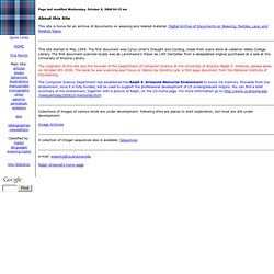 On-Line Digital Archive of Documents on Weaving and Related Topics