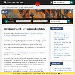 Digital archiving: the seven pillars of metadata