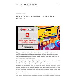 How is Digital Automotive Advertising Useful...?
