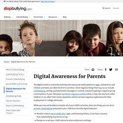 Digital Awareness for Parents