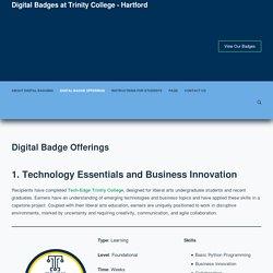 Digital Badge Offerings – Digital Badges