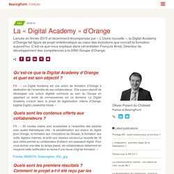 La « Digital Academy » d'Orange