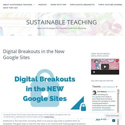 Digital Breakouts in the New Google Sites – Sustainable Teaching