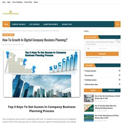 How To Growth In Digital Company Business Planning?