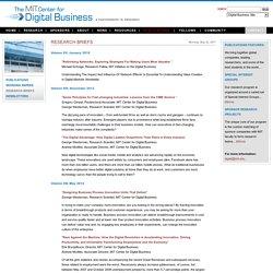 Digital Business at MIT
