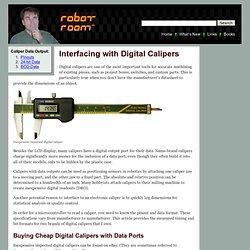 Robotroom: Digital Caliper Pinouts