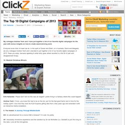 The Top 10 Digital Campaigns of 2013