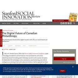 The Digital Future of Canadian Philanthropy