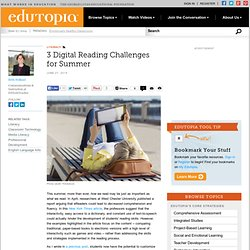 3 Digital Reading Challenges for Summer
