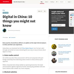 Digital in China: 10 things you might not know