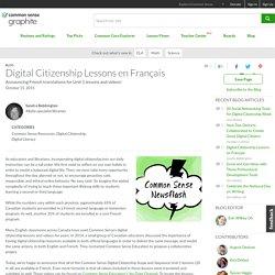 Digital Citizenship Lessons en Français