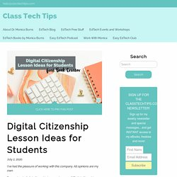 Digital Citizenship Lesson Ideas for Students