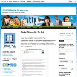 Digital Citizenship Toolkit : EGUSD Digital Citizenship