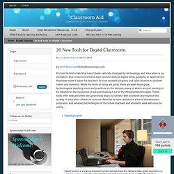 20 New Tools for Digital Classrooms