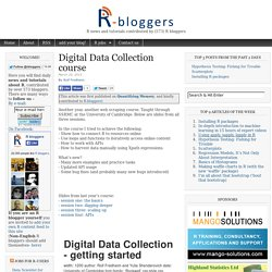 Digital Data Collection course