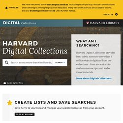 A Selection of Web-Accessible Collections at Harvard University