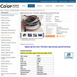 digital rgb full color 144 led/m high density apa102 led strip