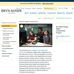 What are Digital Competencies by Bryn Mawr College