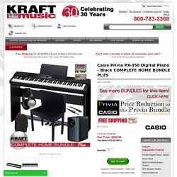 Casio Privia PX-350 Digital Piano - Black COMPLETE HOME BUNDLE PLUS