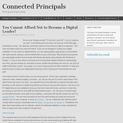 You Cannot Afford Not to Become a Digital Leader!