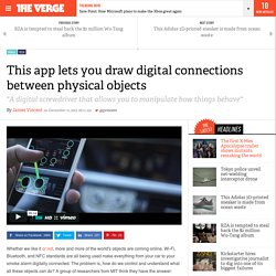 This app lets you draw digital connections between physical objects