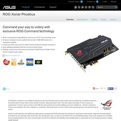 ROG Xonar Phoebus - Sound Cards and Digital-to-Analog Converters