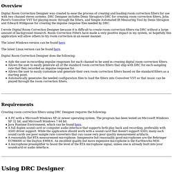 Digital Room Correction Designer Help
