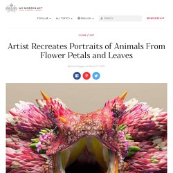 Digital Artist Creates Portraits of Animals from Flower Petals and Leaves