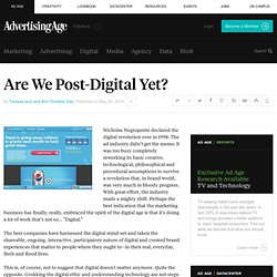 Are We Post-Digital Yet? - Teressa Iezzi and Ann-Christine Diaz