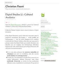 Digital Studies (2) : Cultural Analytics