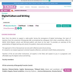 Digital Culture and Writing <br/>
