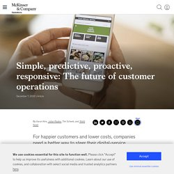 David -Digital customer-service operations: Four steps to a better future